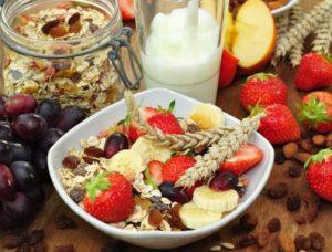 Gesunde Ernährung mit Fruchtmüsli